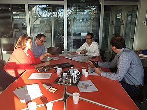 Pictures of project meetings at PURCS